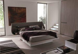 letto limbo in ecopelle e legno viemmegi